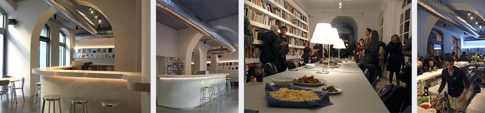Il bar della library realizzato in collaborazione con lo studio Irvine